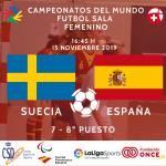 7-8º PUESTO FEMENINO: SUECIA – ESPAÑA