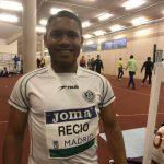 Francis Recio en los 60m inclusivo del meeting internacional de Atletismo