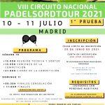 VIII CIRCUITO NACIONAL DE PADELSORDTOUR (1ª Jornada)
